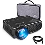 VANKYO LEISURE 3 (Upgraded Version) LED Portable Projector with Carrying Bag, Compatible with Fire TV Stick, PS4, XBOX, 170 Display and 1080P Supported with Free HDMI Cable (2-Black)