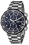 Oris Men's 77476837154SET ProDiver Chronograph Analog Swiss Automatic Silver Watch