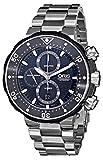 Oris Men's 77476837154SET ProDiver Chronograph Analog Swiss Automatic Silver Watch