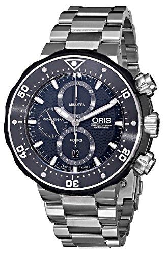 Oris-Mens-77476837154SET-ProDiver-Chronograph-Analog-Swiss-Automatic-Silver-Watch