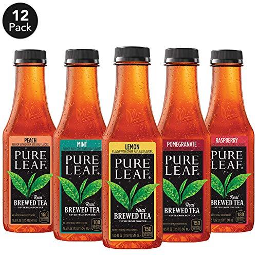 Pure Leaf, 5 Flavor Iced Tea Variety Pack, 18.5 fl oz. bottles (12 Pack)