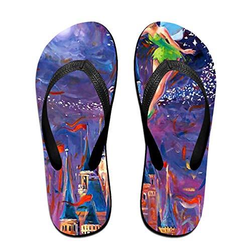 Unisex Flip Flops Glitter Sandals Tinkerbell Spreading Pixie Dust Classical Comfortable Slipper for Women/Men -