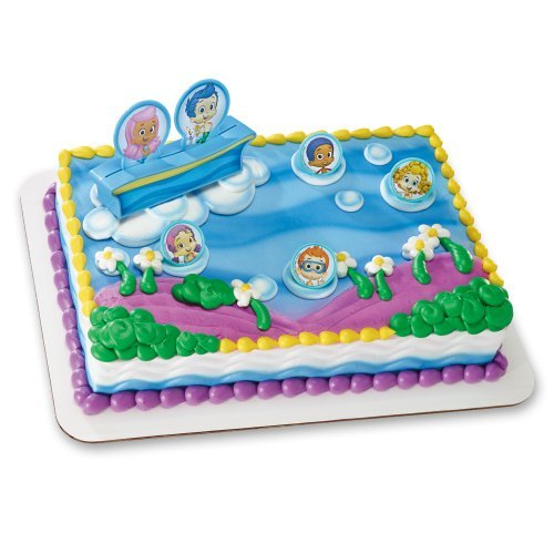 Decopac Bubble Guppies Gil, Molly and Gang DecoSet Cake Topper by DecoPac