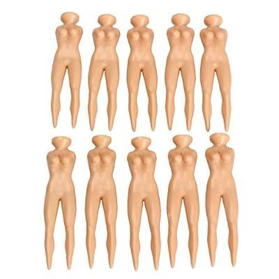 TTnight 10Pcs Novelty Joke Nude Lady Golf Tee Plastic Practice Training Golfer Tees