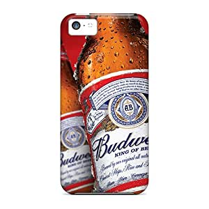 DrawsBriscoe Iphone 5c Protective Hard Phone Cases Support Personal Customs Realistic Budweiser Beer Skin [YjK10953pxUg]