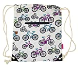 Ever Moda Bicycle Drawstring Backpack