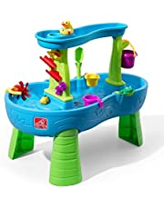 Step2 Rain Showers Splash Pond Water Table | Kids Water Play Table | 13-piece Water Toy Accessory Set
