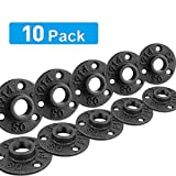 1/2 Cast Iron Floor Flange,Industrial Steel Fixed Base Internal Flanges Pipe Fitting with Threaded Hole for Industrial Pipe, Furniture and DIY Decoration (1/2')