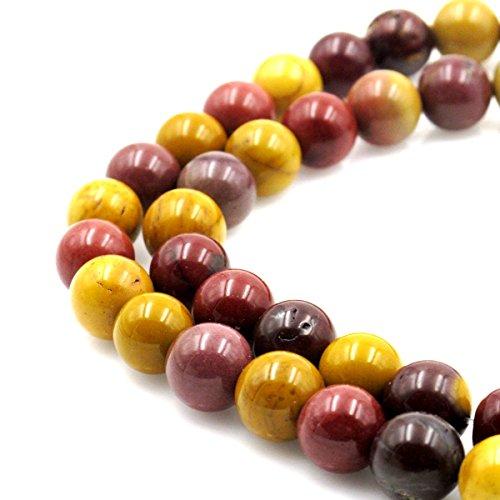 Mookaite Jasper Beads - BRCbeads Natural Mookaite Jasper Gemstone Round Loose Beads 8mm Approxi 15.5 inch 45pcs 1 Strand per Bag for Jewelry Making