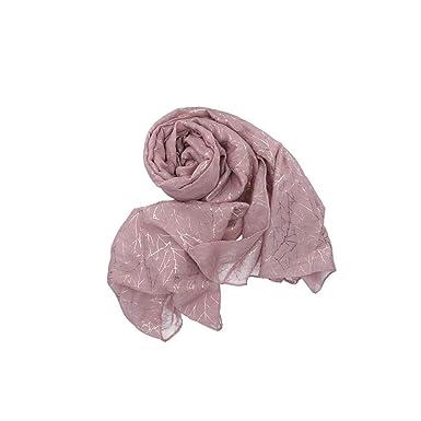 0b4bca96af7 Coveri Collection Echarpe femme pashmina fantaisie feuilles coffret cadeau  VL812 - Colore Rosa antico