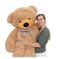 Joyfay 78 inches Giant Teddy Bear Light Brown 6.5 feet Stuffed Teddy Bear Soft Toy For Birthday Valentine Christmas