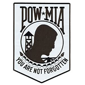 """Hot Leathers Pow Mia Reflective Patch (3"""" Height)"""