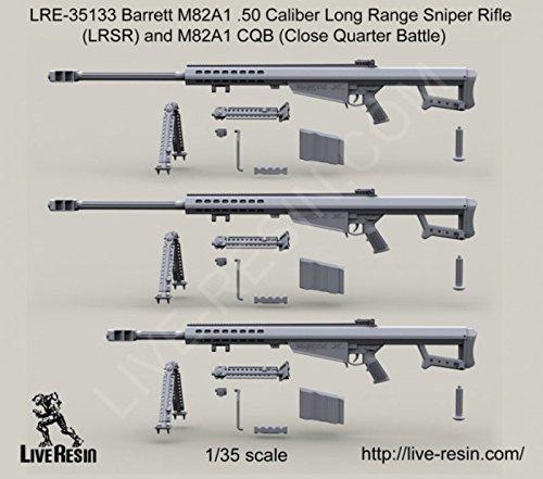 Live Resin 1:35 Barrett M82A1 .50 Cal LRSR & M82A1 CQB - Resin Detail #LRE35133