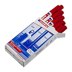 Edding 3000-002 - Marcador permanente, 10 unidades, color rojo