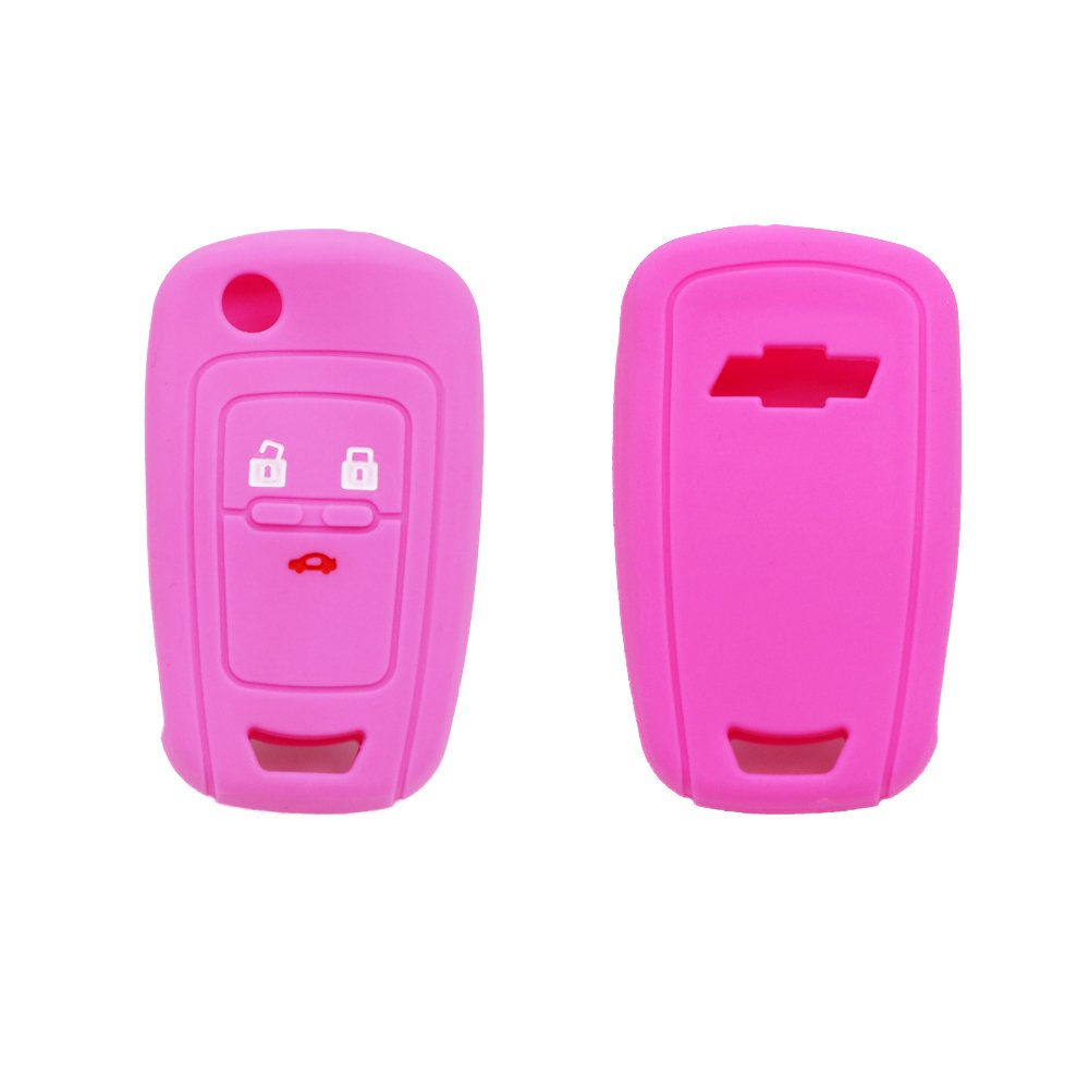 Mokie 2-pcs Silicone Key Fob Case Skin Cover Protector for 2011 2012 2013 Chevy Chevrolet Cruze 5 Buttons