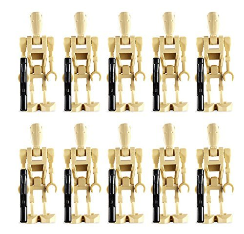LEGO 10 New Battle Droid Minifig Lot Star Wars Figures Minifigures Clone Guns