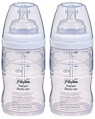 Playtex Drop-Ins System Premium Nurser with Slow Flow Nipple - 4 oz (2 Pack)
