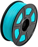CC DIY PLA 3D Printer Filament Dimensional Accuracy +/- 0.02 mm 1kg Spool 1.75 mm Suits Most 3D Printers Tevo Tarantuala CR10 Mendel Prusa and More, Also Suitable for Most 3D pens (Cyan)