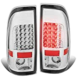 For Ford F250/F350/F450/F550 Super Duty Pair of LED Tail Brake Lights (Black Housing Smoked Lens)
