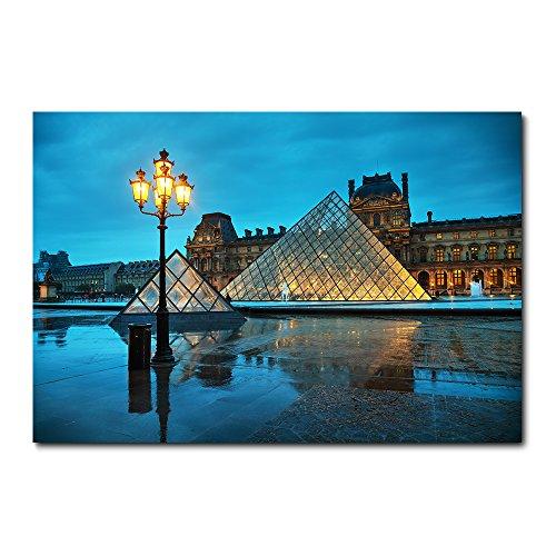 Placa Decorativa - Paris - Museu do Louvre - 2228plmk