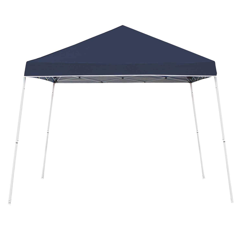 Z-Shade 10 x 10 Foot Angled Leg Taffeta Peak Style Canopy with Carry Bag, Navy