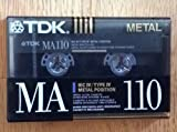 TDK MA110 Metal Biased Metal Alloy 110 Minutes Cassette Tape