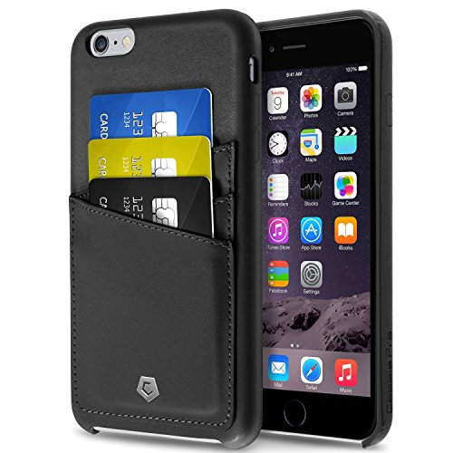 Compatible With iPhone 6S Plus Case, Cobble Pro Premium Handcrafted [Ultra Slim] Leather Back Case Cover with ID Credit Card Slot Holder Compatible With Apple iPhone 6S Plus/iPhone 6 Plus (5.5