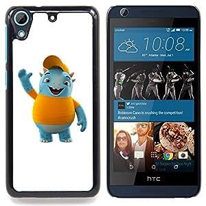 For HTC Desire 626 & 626s - Friendly Blue Monster /Modelo de la piel protectora de la cubierta del caso/ - Super Marley Shop -