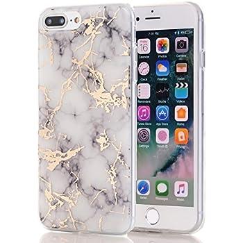 IPhone 7 Plus CaseiPhone 8 CaseSpevert Marble Pattern Hybrid Hard Back