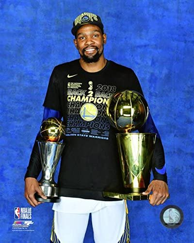 """Golden State Warriors 2018 Champions Kevin Durant Finals Trophy & MVP  Trophy 8"""" x 10"""" Basketball Photo at Amazon's Sports Collectibles Store"""