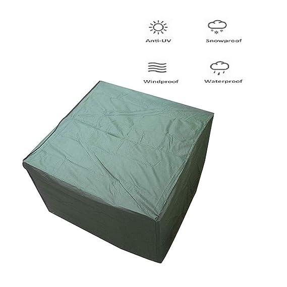 BAIYING-Funda Protectora Muebles Jardín ,Tela Oxford Impermeable Coche Cubierta De Pérgola Cubierta del Patio Mecánico Protección contra La Nieve, 21 Tamaños (Color : Green, Size : 190x135x90cm): Amazon.es: Hogar