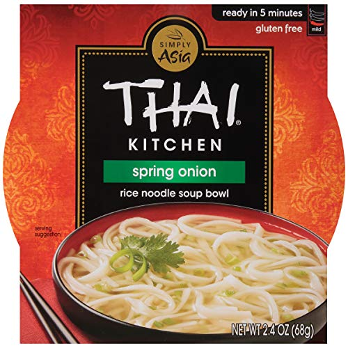 Thai Kitchen Gluten Free Spring Onion Rice Noodle Soup Bowl, 2.4 oz (Pack of 36)