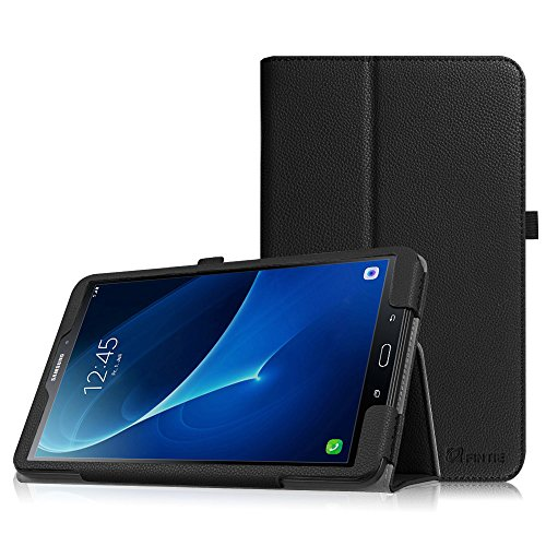 Fintie Folio Case for Samsung Galaxy Tab A 10.1 (2016 NO S Pen Version), Premium PU Leather Slim Fit Smart Stand Cover with Auto Sleep/Wake for Galaxy Tab A 10.1 (SM-T580/T585/T587), Black