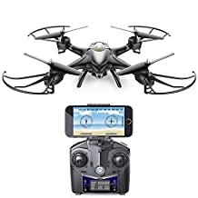 Holy Stone HS200 FPV RC Quadcopter Helicopter Drone with 2MP HD Camera,with Altitude Hold,Headless Mode and Gravity Sensor 6-Axis 2.4Ghz Gyro RTF,Color Black