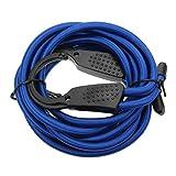 Kenthia 3M Car Adjustable Bungee Cord Hook Ends Braided Rope Bike Luggage Racks Clothes Hanger Tie Down Strap - Blue