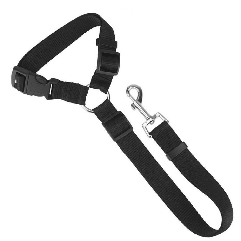 Tcplyn 1PCS Durable Pet Seat Belt Strap Car Headrest Restraint Adjustable Pet Leashes for Vehicle Car Use Black