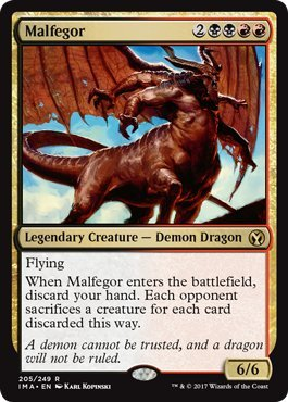 Malfegor - Foil - Iconic Masters