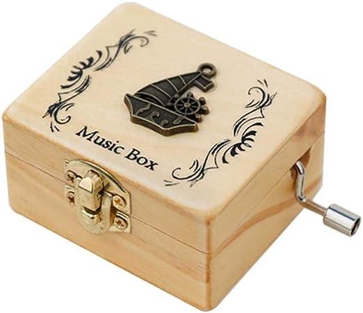 H.Y.BBYH Cajas de música La Caja de música de Madera Tallada de la ...
