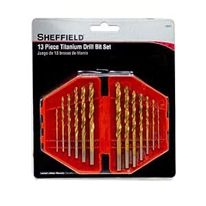Sheffield Tools 60001 Titanium Drill Bit Set, 13-Piece