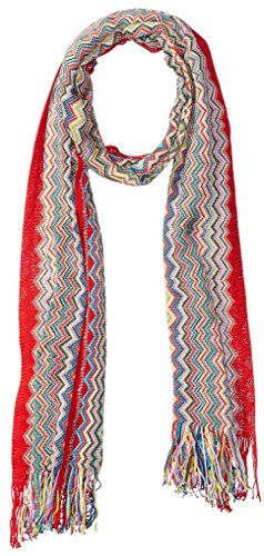 MISSONI Women's Squiggle Scarf, Orange/Multi by Missoni