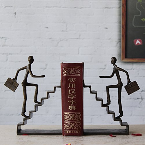 creative metal bookends cast copper crafts decoration simple modern living room study (Copper Bookends)