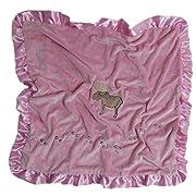 Carstens Pink Moose Baby Blanket