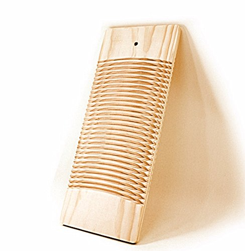 (Living Plus Natural Wooden Washing Clothes Washboard for Laundry board)