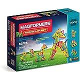 Magformers Creator Neon Color Set (60-pieces) Magnetic Building Blocks, Educational Magnetic Tiles Kit, Magnetic Construction STEM Set