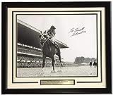 #10: Ron Turcotte Signed Framed 16x20 Secretariat Belmont Stakes Photo 73 Belmont Inscribed PSA