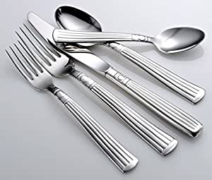 Liberty Tabletop Lincoln 45-piece 18/10 Flatware Set for 8, Includes Serving Pieces Made in USA