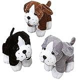 Sitting Puppy Dog Stuffed Animals Plush (1 Dozen), Assorted Color