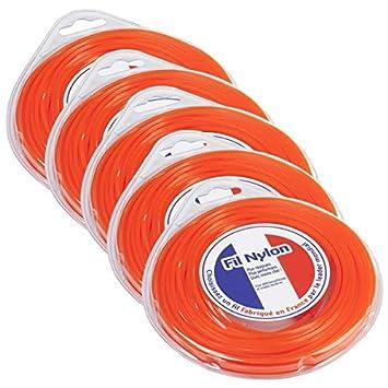 Hilo Desbrozadora Nylon 4 Mm X 9 m. Cuadrado. Naranja ...