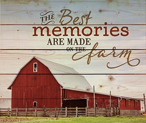 P Graham Dunn The Best Memories are Made on The Farm Old Red Barn 18 x 21 Wood Pallet Wall Art Sign Plaque