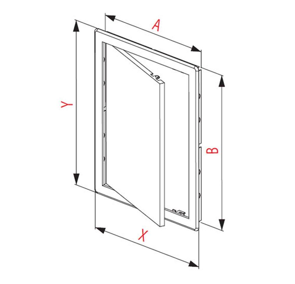 Puerta de pl/ástico de f/ácil acceso color blanco 150 x 150 mm